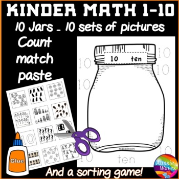 Counting Numbers 1-10 Math Center Activities and Number Se