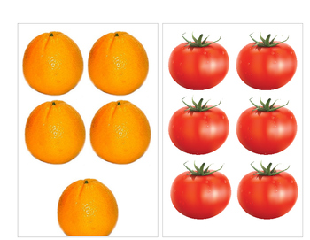 Counting Numbers 1-10 using Fruit