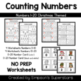 Counting Numbers 1-20 ~ Christmas Edition