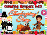 Thanksgiving Counting Numbers 1 to 20 Powerpoint Game w sound effects