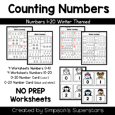 Counting Numbers 1-20 ~ Winter Edition