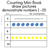 Counting Numbers 1 - 20 draw pictures to demonstrate counting 1-20