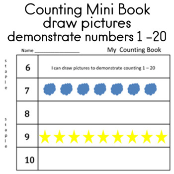 Counting Numbers 1 - 20 draw pictures to demonstrate count
