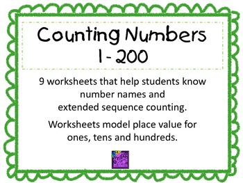 Counting Numbers 1 - 200
