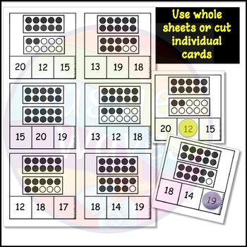 Kinder Math Center Activity Counting Numbers 11-20 10 Frames & Dots