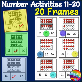 Ten Frames Math Activity Counting Numbers 11-20