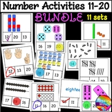Counting Numbers 11-20 Number Recognition Activity Cards B