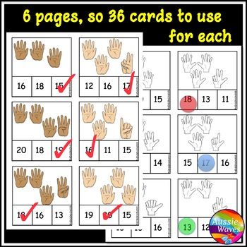 Counting Numbers 11-20 Math Activity BUNDLE