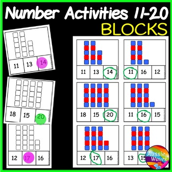 Printable Math Activity Counting Numbers 11-20 Recognizing Block Patterns