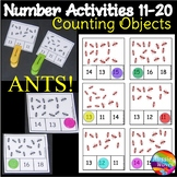 Counting Numbers 11-20 Number Recognition Counting Objects Math Center Activity