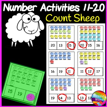 Printable Math Center Activity Counting Numbers 11-20