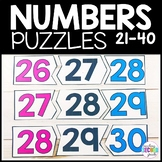 Counting Numbers 21-40 Math Puzzles