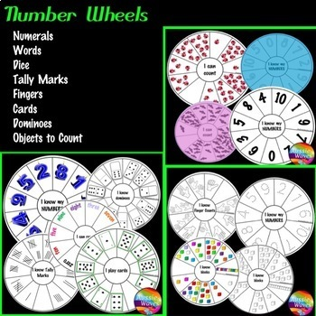Counting Numbers Activity Cards BUNDLE  KINDER Math Centers