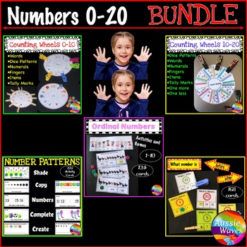 Math Activities Numbers 0-10 and 10-20 BUNDLE