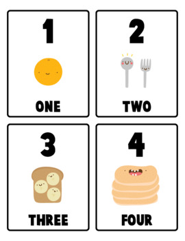 Counting Numbers Cards