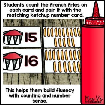 Counting Numbers Center 1-20: French Fry Counting Game