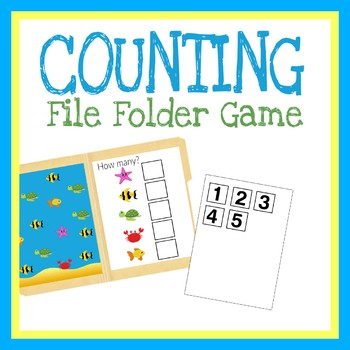 Counting Numbers File Folder Game, Printable Worksheet, Quiet Book Activity