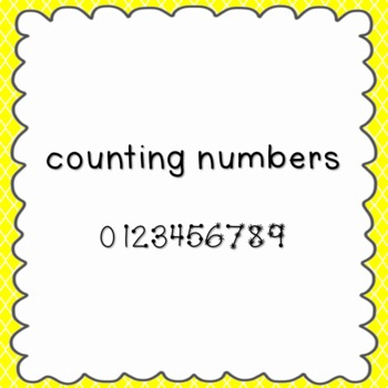 Counting Numbers Font {personal and commercial use; no license needed}