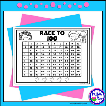 Counting Numbers Game: Race to 20, 50, or 100 - Bubble Gum