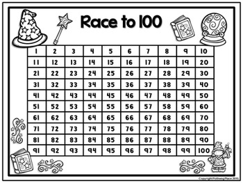 Counting Numbers Game: Race to 20, 50, or 100 - Hocus Pocus Fun