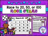 Counting Numbers Game: Race to 20, 50, or 100 - Rock Stars