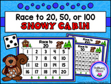 Counting Numbers Game: Race to 20, 50, or 100 - Snowy Cabi