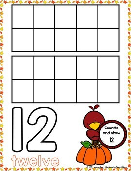 Counting & Numbers Practice Pages Bundle (Spring, Summer, Winter, Fall)