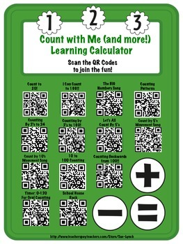 QR Codes~Counting Numbers, Skip Counting Songs/Videos SCAN