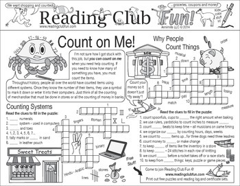 Counting (Numbers and Measures) Two-Page Activity Set