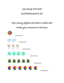 Counting Numbers for Kindergarten for Centers, DIY's, and Daily 5