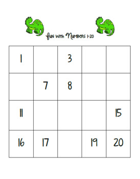 Counting Numbers in Order Math Center 1 - 120 ( Dinosaur Edition )