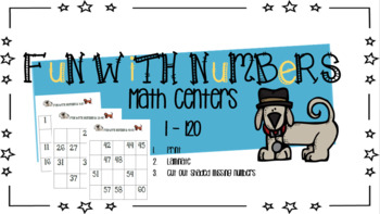Counting Numbers in Order Math Center 1-120 ( Dog Edition )