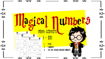 Counting Numbers  in Order Math Center 1 - 120 ( Harry Potter Edition )