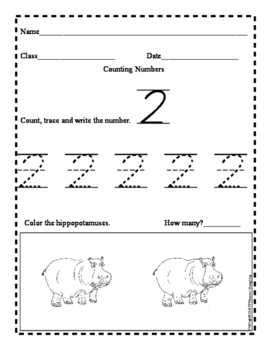 Counting Numbers with Hippos