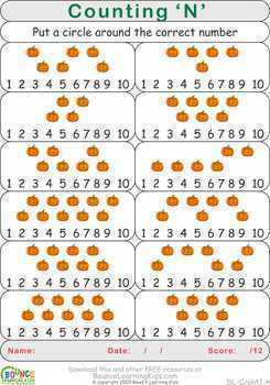 Counting (26 Numeracy sheets)
