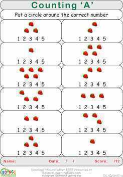 Counting (26 distance learning worksheets for Numeracy)