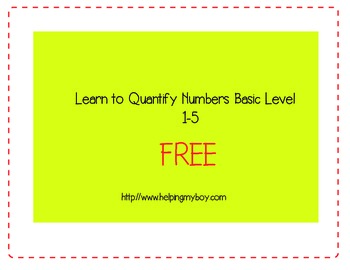 Counting Object Basic Level 1 Autism/ABA Pre K