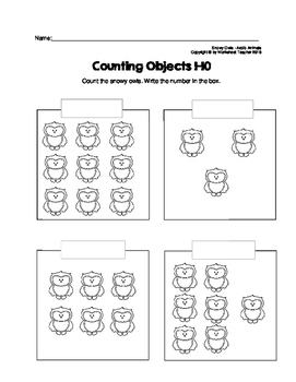 Counting Objects 1-10 Arctic Animals Worksheets