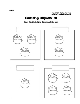 Counting Objects 1-10 Baa Baa Black Sheep Nursery Rhyme Characters
