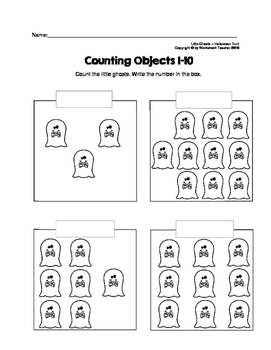 Counting Objects 1-10 Halloween Fun Worksheets