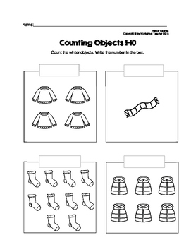 counting objects 1 10 winter clothes worksheets by worksheet teacher. Black Bedroom Furniture Sets. Home Design Ideas