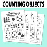 Counting Objects 1-10 Worksheets Math Geometry For Kids