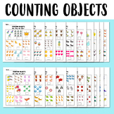 Counting Objects 1-10 Worksheets Basic Math Colorful