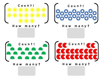 Counting Objects 1 - 15, Simple Shapes, LIfe Skills or Functional Curriculum