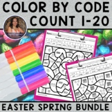 Counting Objects 1-20 | Color by Code Mystery Easter Sprin