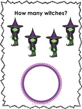 Halloween Math ~ Counting Objects 1-20