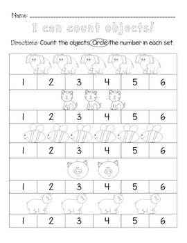 Counting Objects 1-6 FREEBIE!!