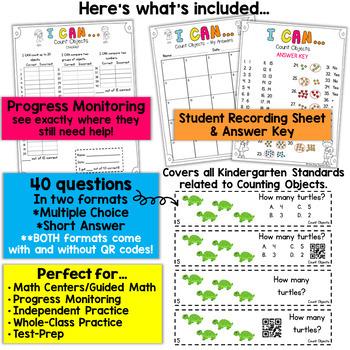 Kindergarten Counting Objects | Kindergarten Math Centers