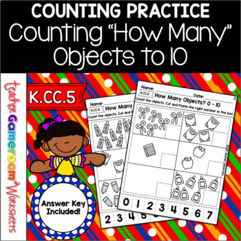 Counting Objects Worksheet By Teacher Gameroom Tpt