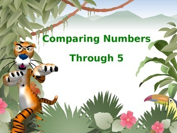 Counting Objects and Comparing Numbers to 5 Powerpoint